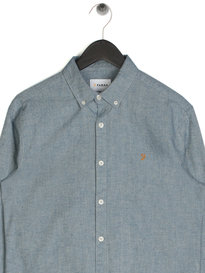 Farah Steen Slim Long Sleeve Shirt Light Blue