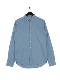 Farah Steen Slim LS BD Shirt Blue