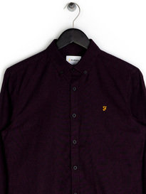 Farah Steen Slim LS BD Shirt Purple