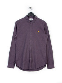 Farah ST-Shirt Slim Long Sleeve Shirt Purple