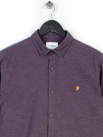 FARAH STEEN SLIM LS SHIRT PURPLE