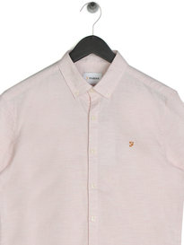 Farah Steen Slim Short Sleeve Shirt Pink