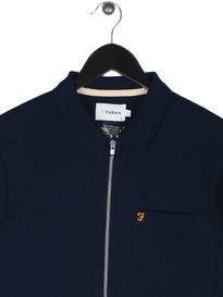 Farah Sudnew Honeycomb Long Sleeve Shirt Navy