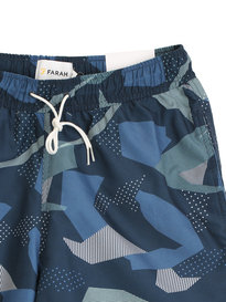 Farah Swanson Camo Print Swim Shorts Navy Mix