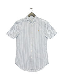 Farah Sydling Slim Short Sleeve Shirt White