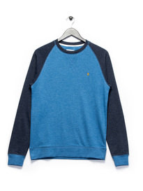 Farah Tanton Raglan Sweat Top Blue