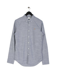 Farah Tensington Slim Long Sleeve Shirt Light Blue