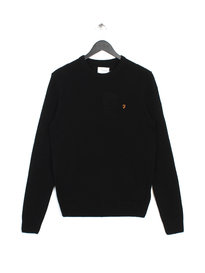 Farah The Rosecroft Long Sleeve Jumper Black