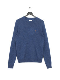 Farah The Rosecroft Long Sleeve Jumper Dusky Blue