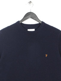 Farah The Rosecroft Long Sleeve Jumper Navy