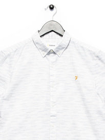 Farah Thorpley Slim SS Shirt Off White