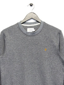 Farah Tiller Crew Neck Sweat Top Grey