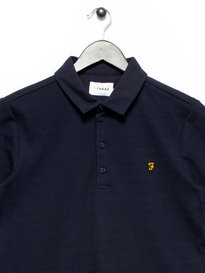 Farah Trellick Vertical Stripe Polo Navy