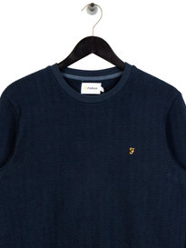 Farah Wadden Texture Sweat Navy