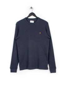 FARAH WYLEY LS T-SHIRT NAVY