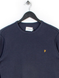 Farah Wyley Long Sleeve T-Shirt Navy