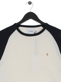 Farah Zemlak Raglan Long Sleeve T-Shirt Navy