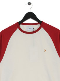 Farah Zemlak Raglan Long Sleeve T-Shirt Red