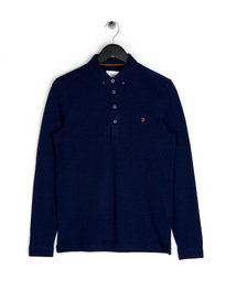 Farah Merriweather LS Polo Blue