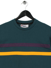 Fila Daniel Stripes Long Sleeve T-Shirt Green