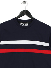 Fila Daniel Stripes Long Sleeve T-Shirt Navy