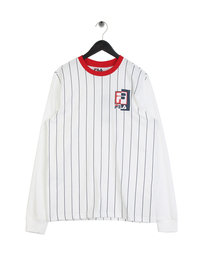 Fila Blackline Drake Stripe Long Sleeve T-Shirt White