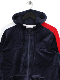 Fila King Velour Tracktop Navy
