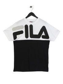 Fila Blackline Lenox Cut and Sew Graphic T-Shirt Black