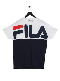 Fila Blackline Lenox Cut and Sew Graphic T-Shirt Navy