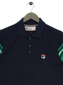 Fila Navarra Stripe Sleeve Polo Navy