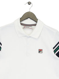Fila Navarra Stripe Sleeve Polo White