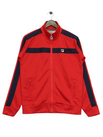 Fila Renzo Tricot Funnel Neck TrackTop Red