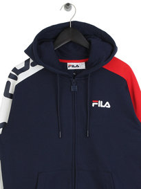 Fila Blackline Stan Cut And Sew Hoodie Navy