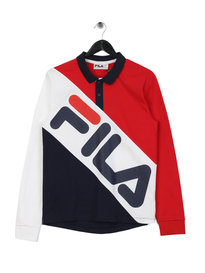 Fila Blackline Taygen Colour Block Polo Red