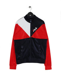 Fila Blackline Toby Velour Track Jacket Navy