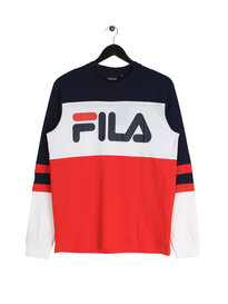 Fila Blackline Dylan Fashion Long Sleeve T-Shirt Navy