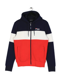 Fila Blackline Hugo Zip Through Hoodie Navy