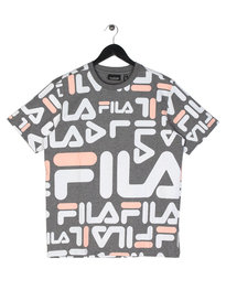 Fila Blackline Logan Graphic T-Shirt Grey