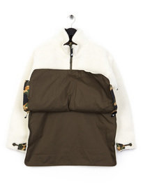 Ark Air Furry Borg Mammoth Jacket Cream
