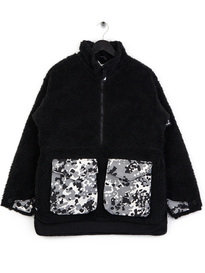Ark Air Furry Borg Mammoth Jacket Black