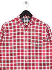Pretty Green Garner Check Shirt Red