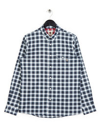 Pretty Green Garner Check Shirt Blue