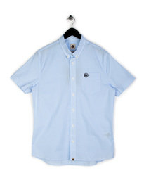 Pretty Green Gingham SS Shirt Sky Blue