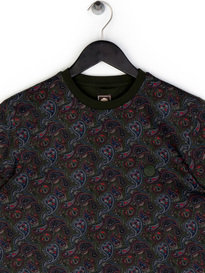 Pretty Green Golborne Paisley SS T-Shirt Dark Green