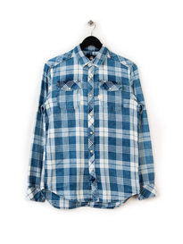 G-STAR LANDOH LS INDIGO CHECK SHIRT BLUE
