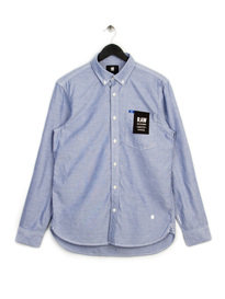 G-Star Oxford Button Down Long Sleeve Shirt Blue