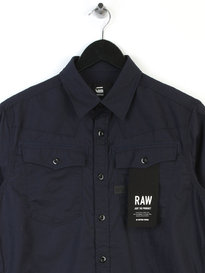 G Star Raw 3301 Long Sleeve Indigo Shirt