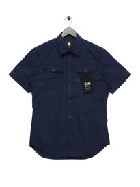 G Star Raw 3301 Shirt Short Sleeve Navy