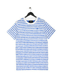 G Star Raw Kantano Relaxed Stripe Short Sleeve T-Shirt White/Blue