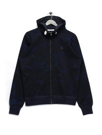 G Star Raw Long Sleeve Hoyn Hooded Vest Navy